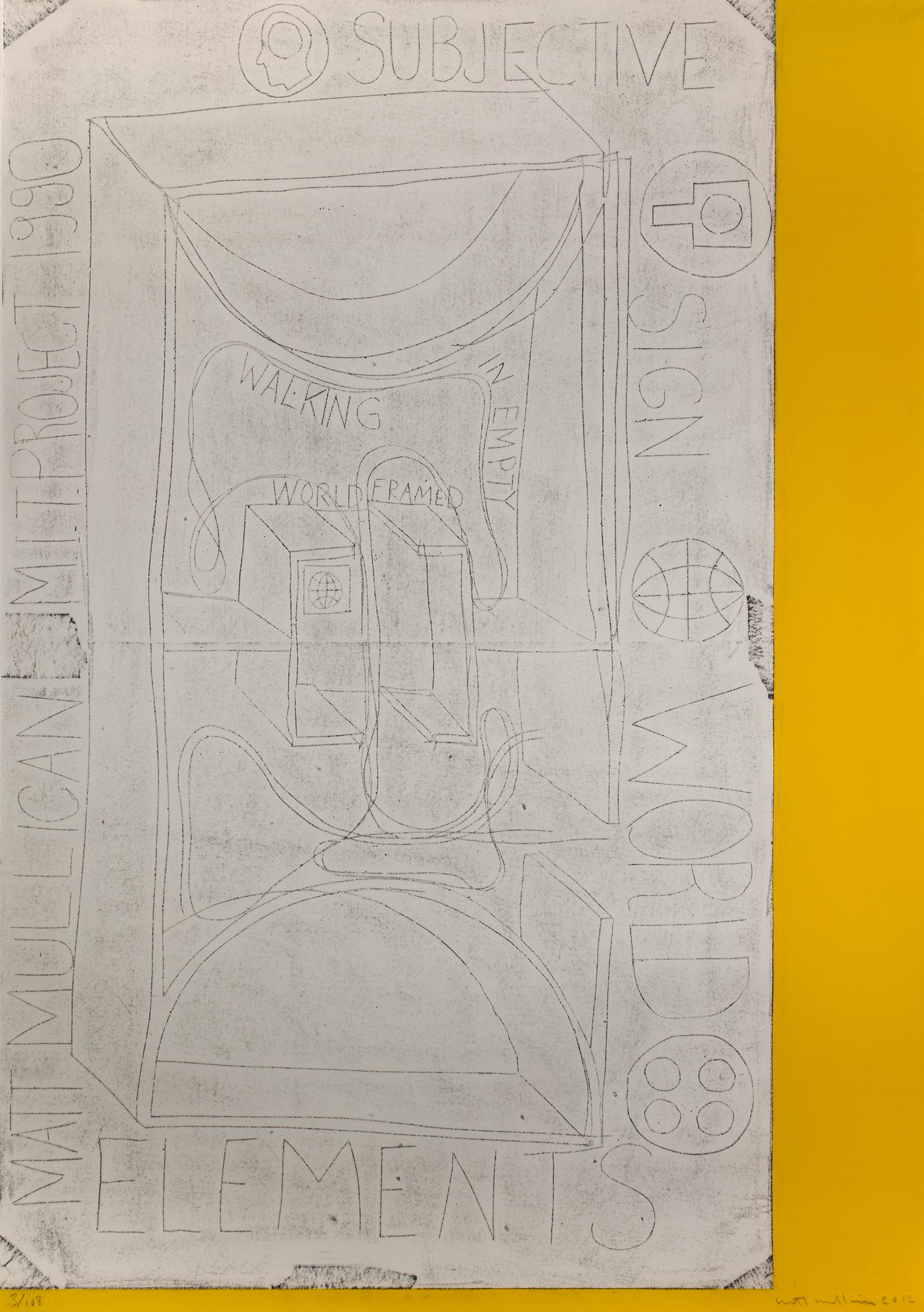 Matt Mullican, MIT Print Project, 2012