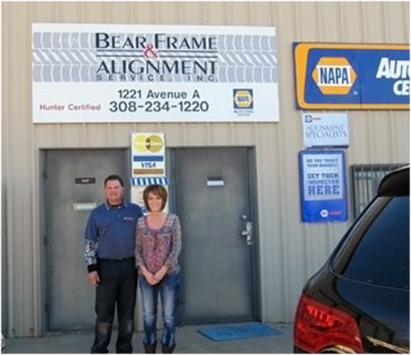 Stan & Michelle Lundgren owners of Bear Frame & Alignment Services, Inc. Kearney, NE