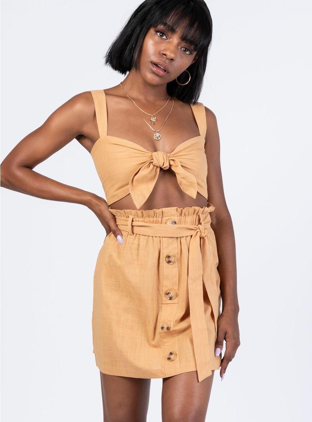 Orange Skirt & Top Set PrincessPolly