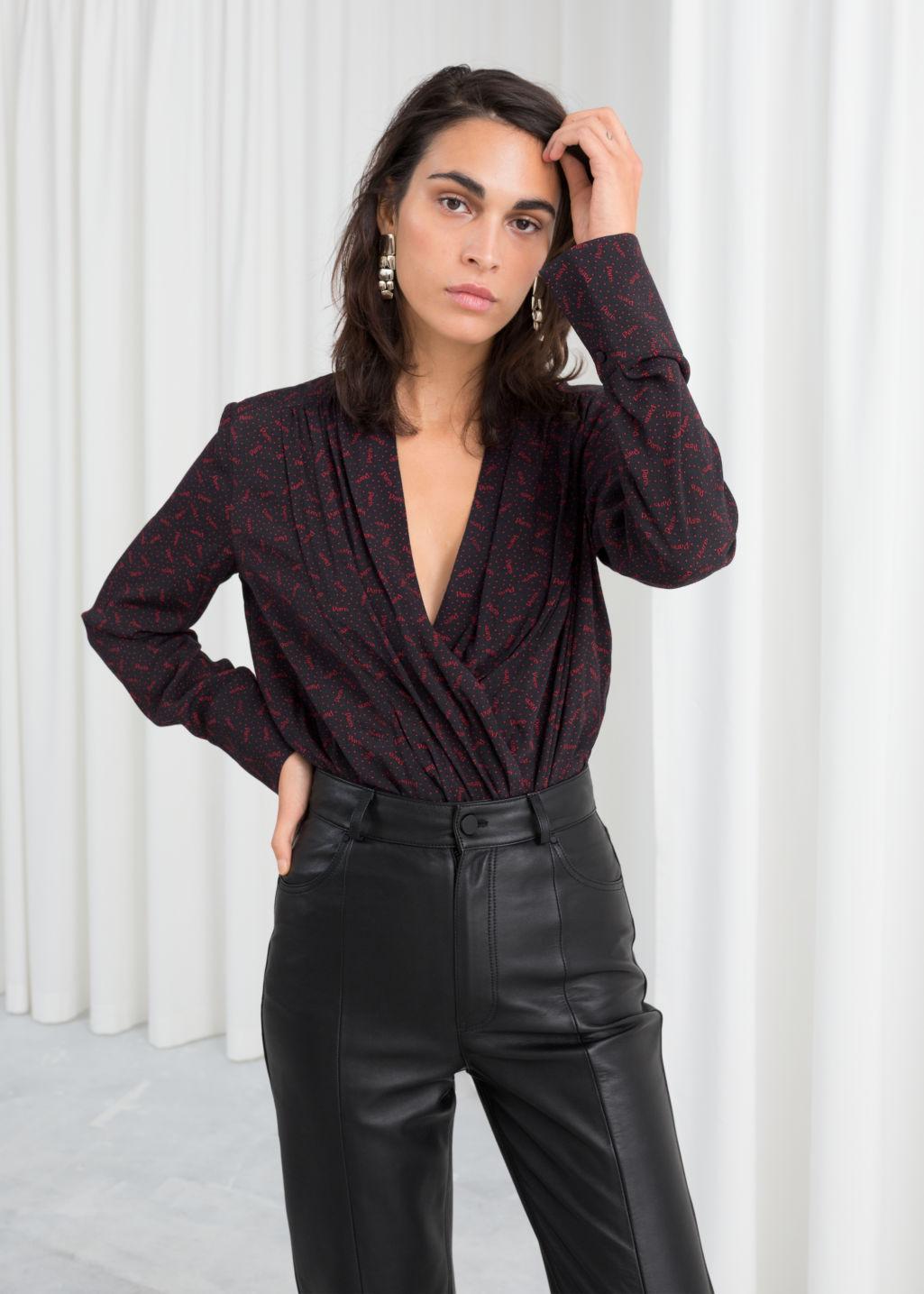 Paris wrap blouse bodysuit - & other Stories