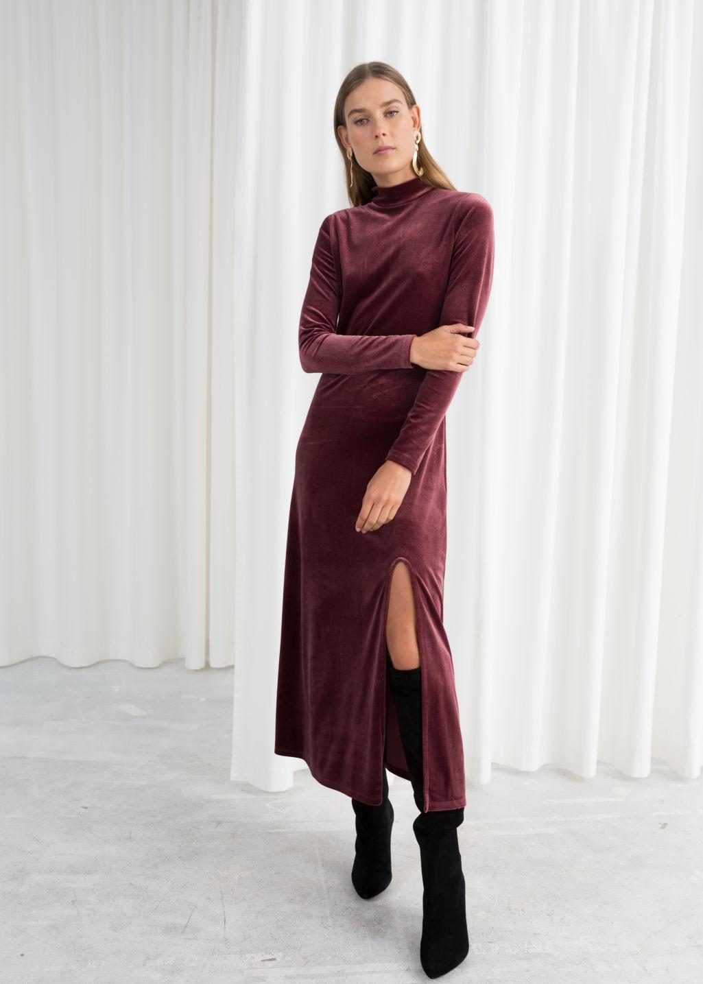 Midi Velvet Dress  - & other stories