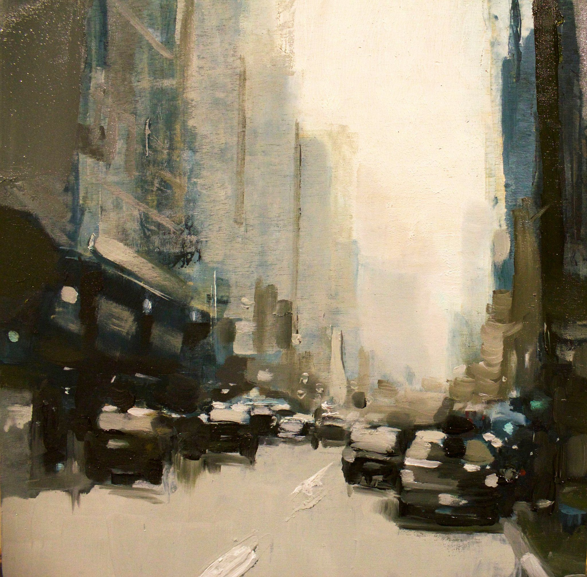 NY city study #24 22 Dec 2016 Oil on panel