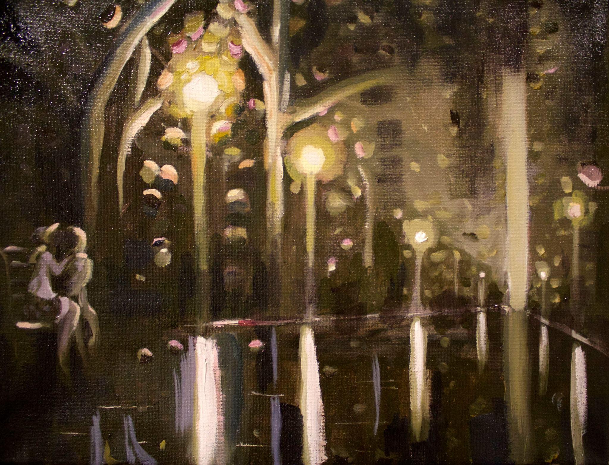 Park abstract study #07 Oil on canvas Mar 2017
