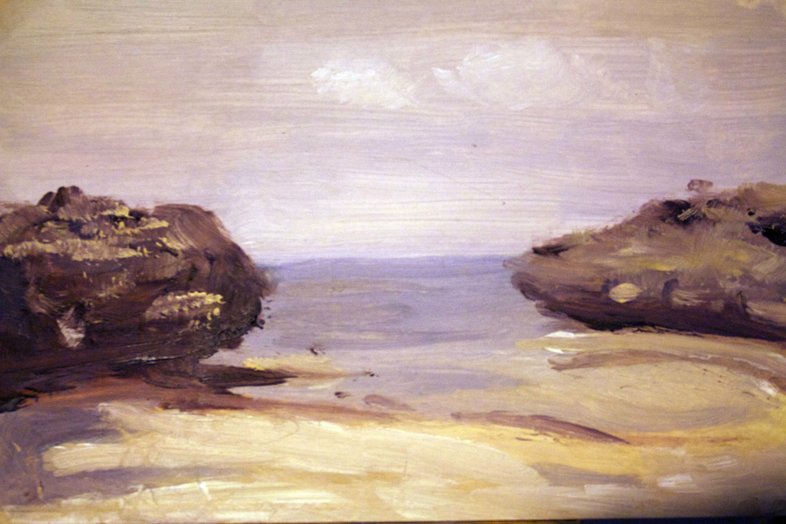 Rock formations - oil on panel, 5x7 in