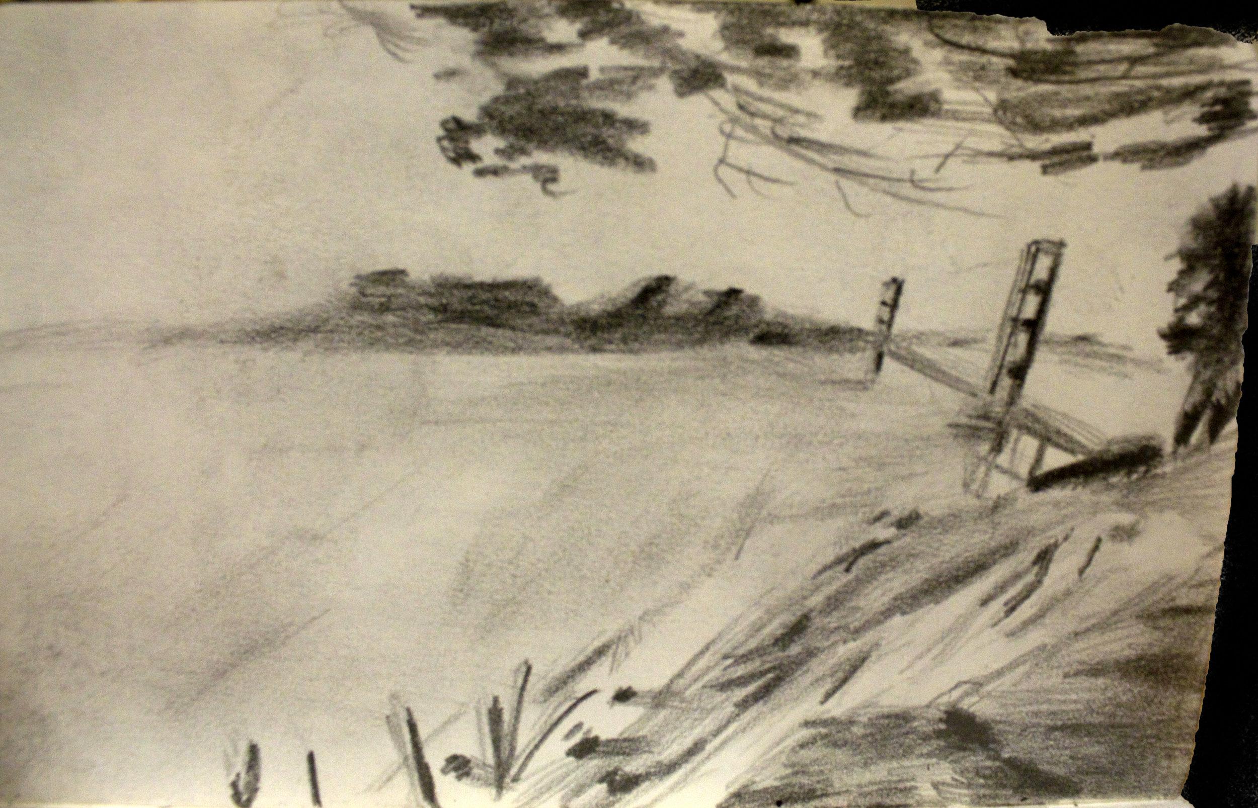 San Francisco Bridge Sketch