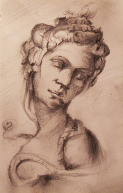 Model Study Sketch #22