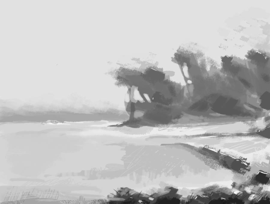 Composition study, beach 01%0APaint on digital%0A24 Jun 2016.jpg
