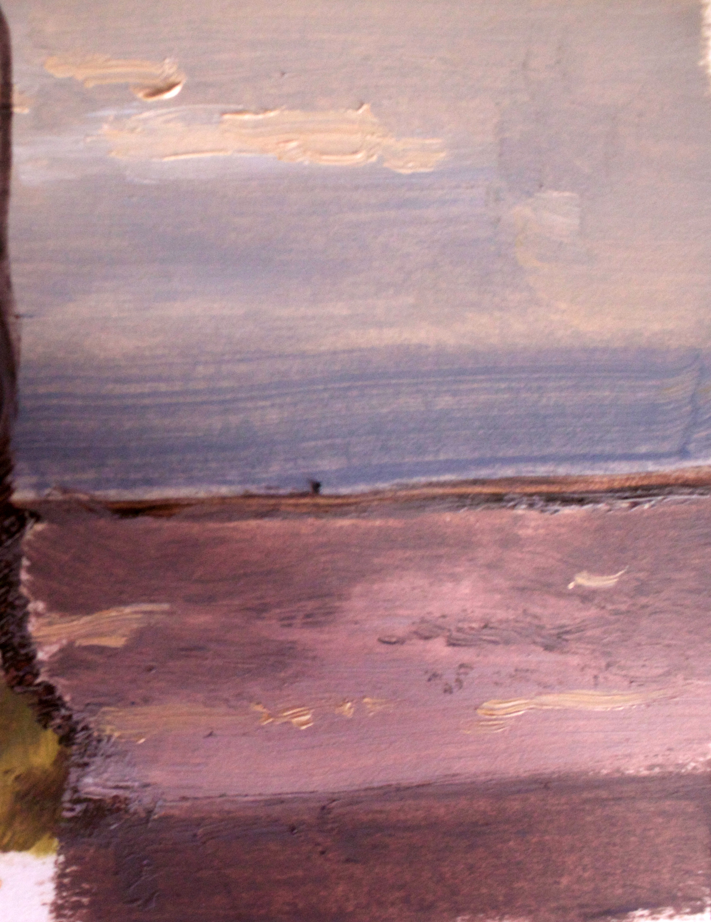 Ocean View Red and Orange Hue 25 Oct 2018 Oil on panel