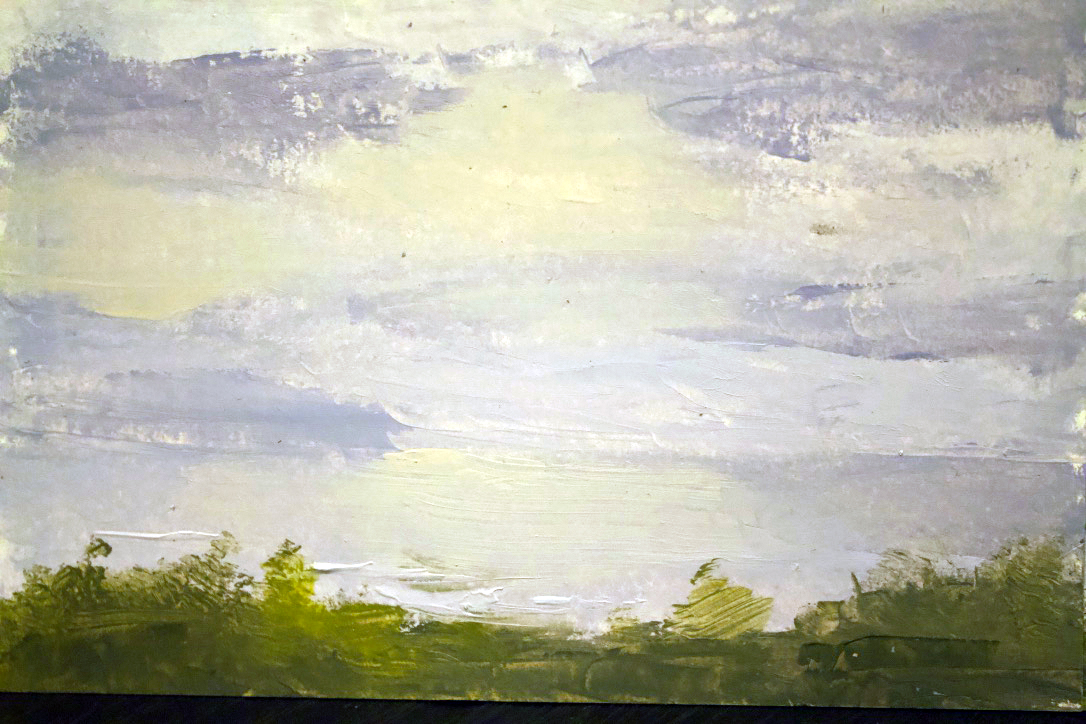 """""""Oceanscape Okinawa Green"""" - oil on panel - 5x7 in"""