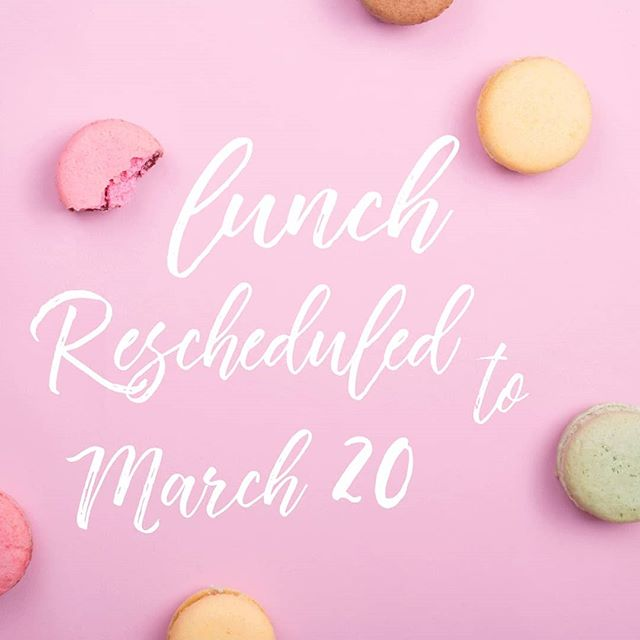 Thanks for voting! Majority wanted to reschedule tomorrow's lunch meetup for March 20. Save the date! Location will be announced at the March 1 meeting.