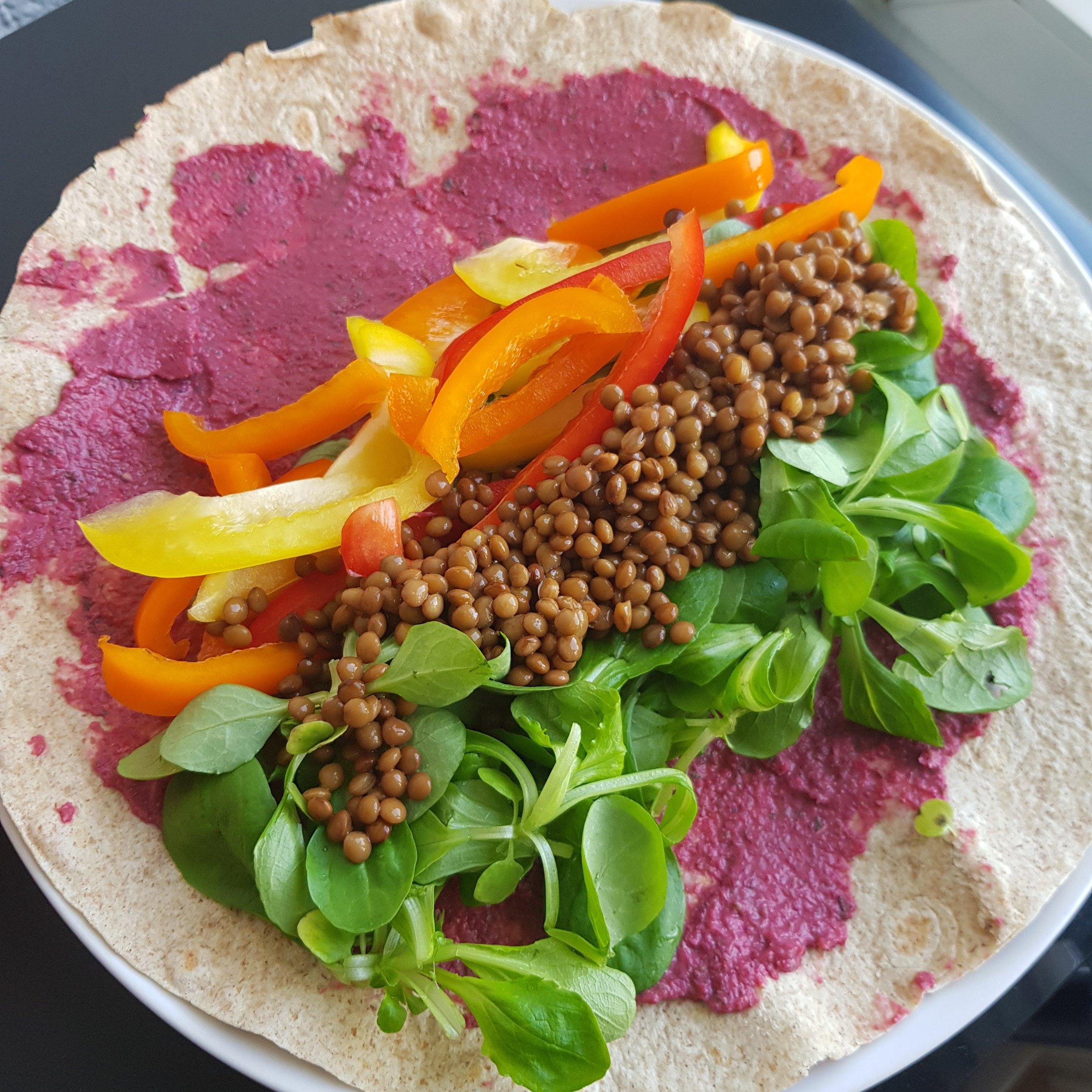 Lentil & Hummus Wrap -