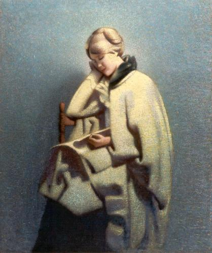 Woman in Irish Coat, Oil on Canvas, Date unknown