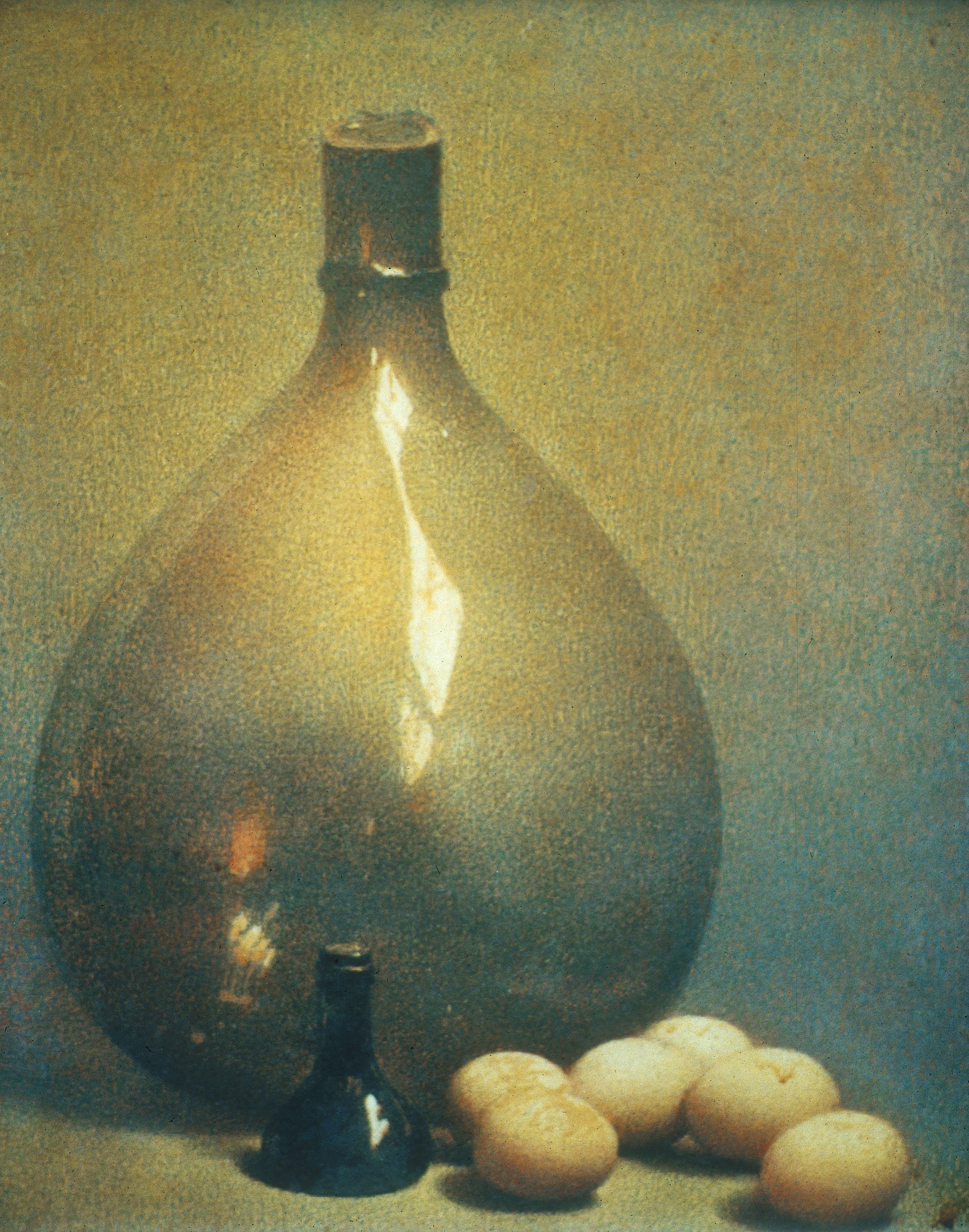 Still Life with Bottle, Oil on Canvas, Unknown date