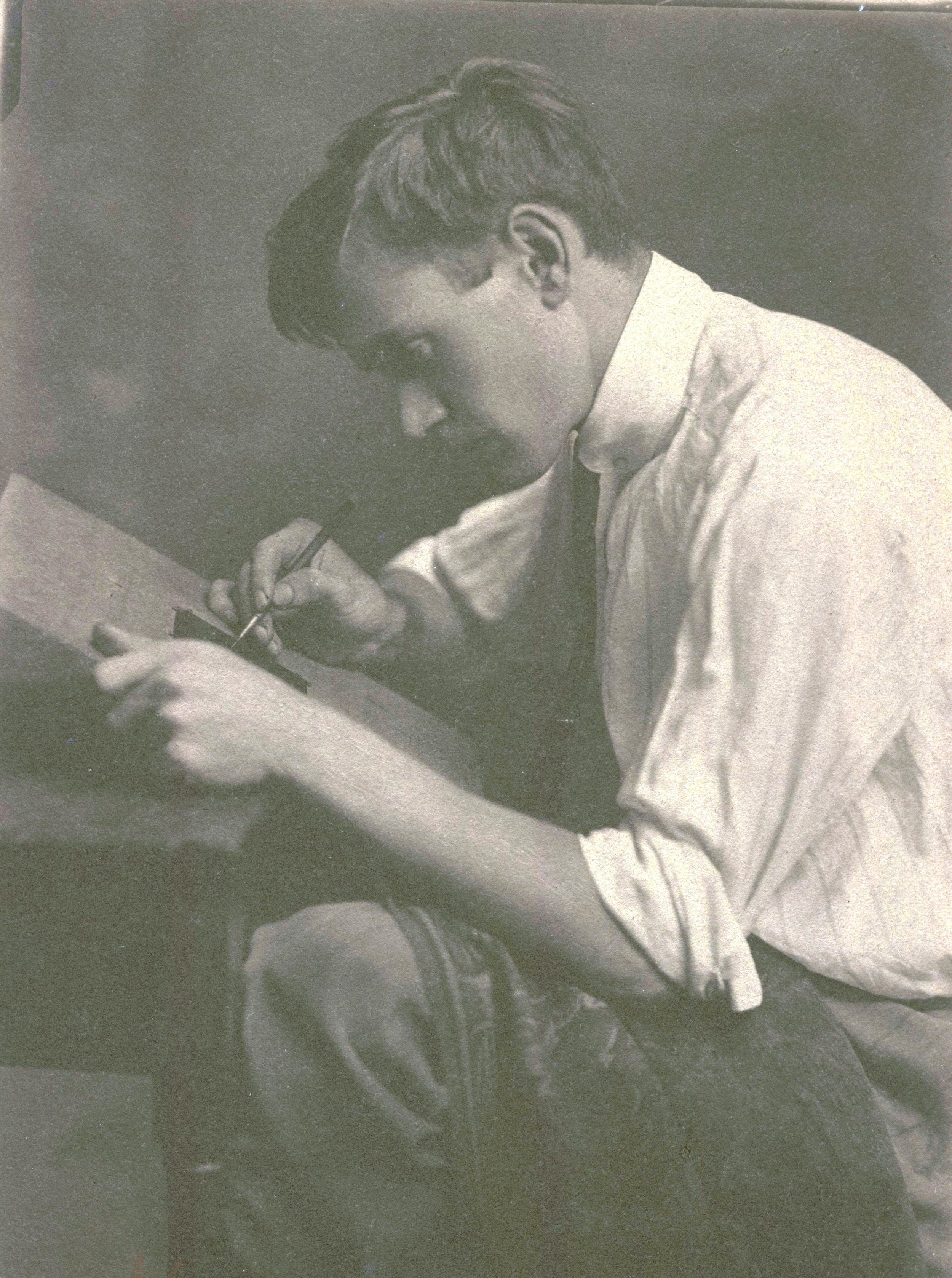 A young Carl Schmitt in the studio