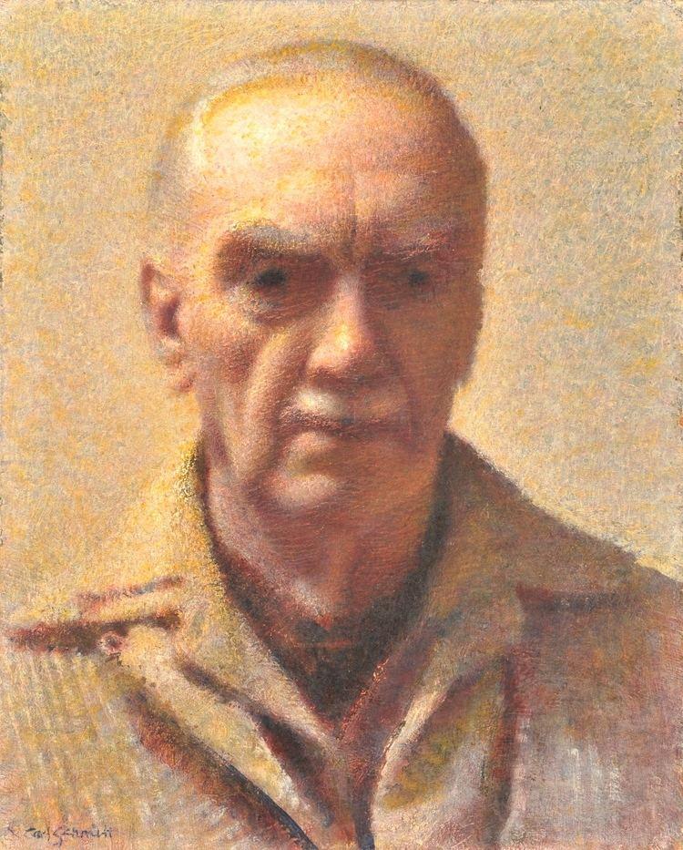 Self Portrait of the artist, Oil on Panel