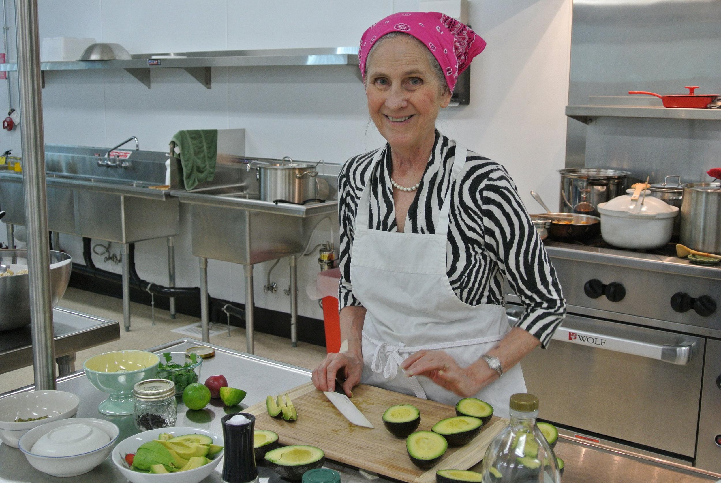 Jean Richardson in GM Kitchen.JPG
