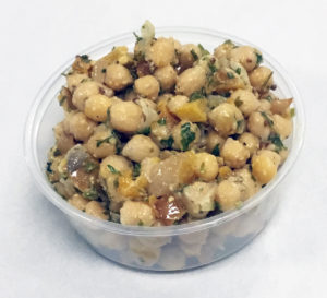 Garbanzo beans with roasted butternut squash.