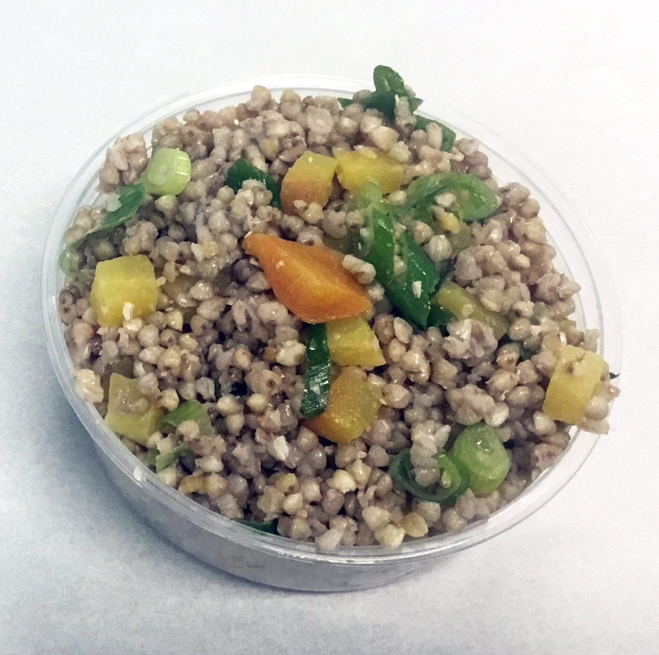 Buckwheat with golden beets and parsley.