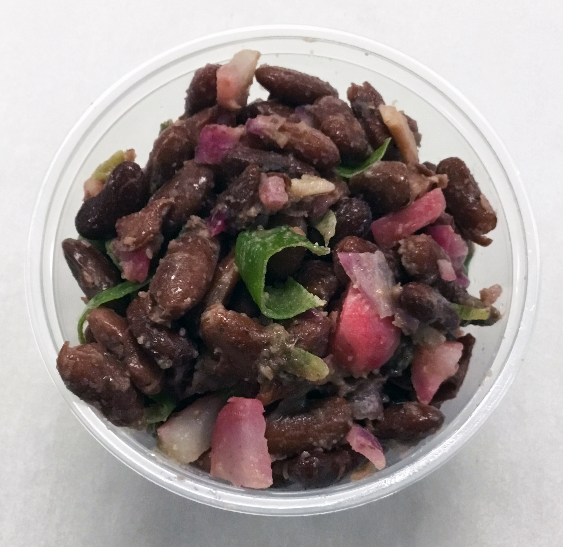 Kidney beans with red radishes, red onion, scallion and umeboshi vinegar dressing.