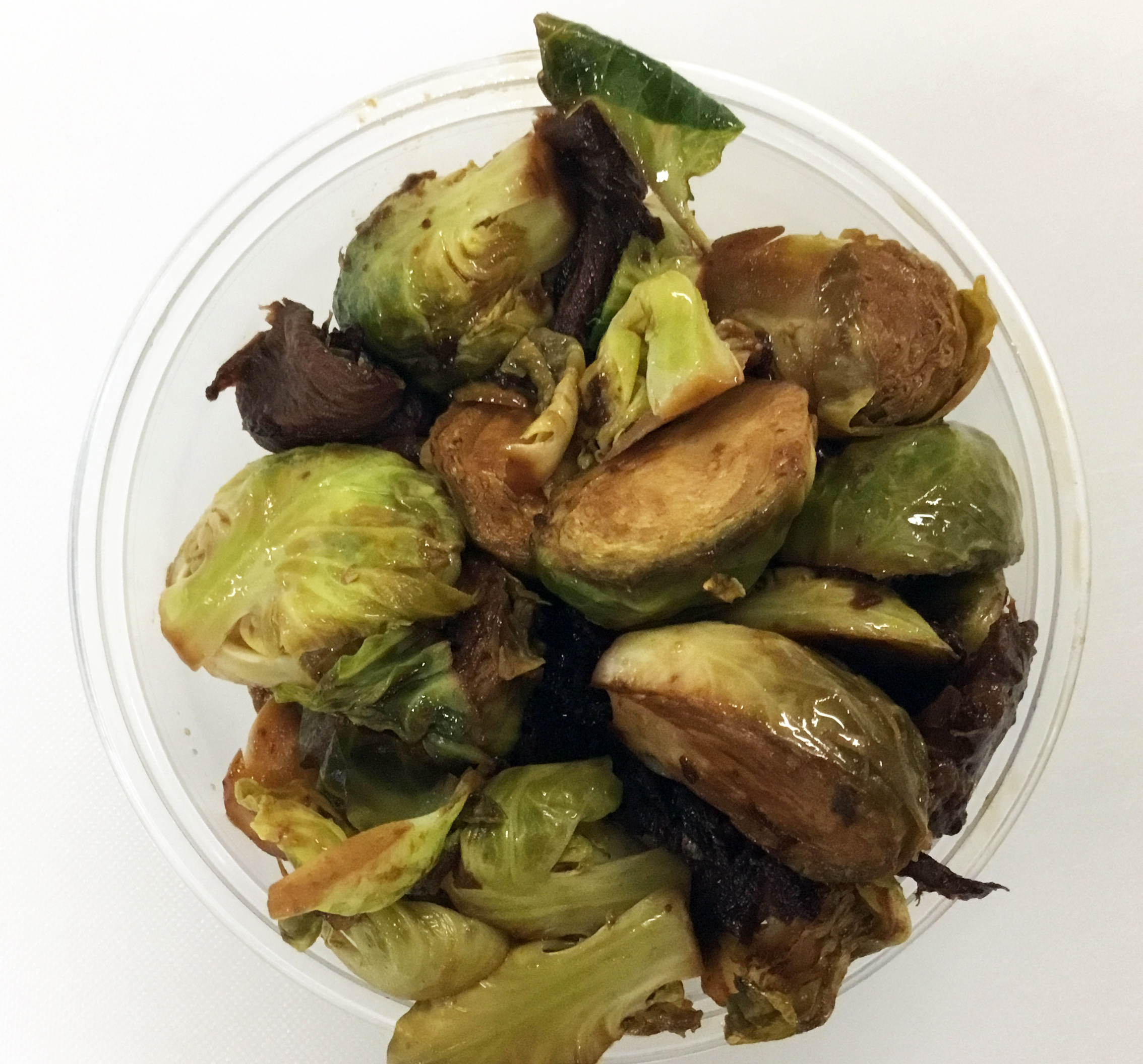 Braised brussel sprouts with Turkish apricots.