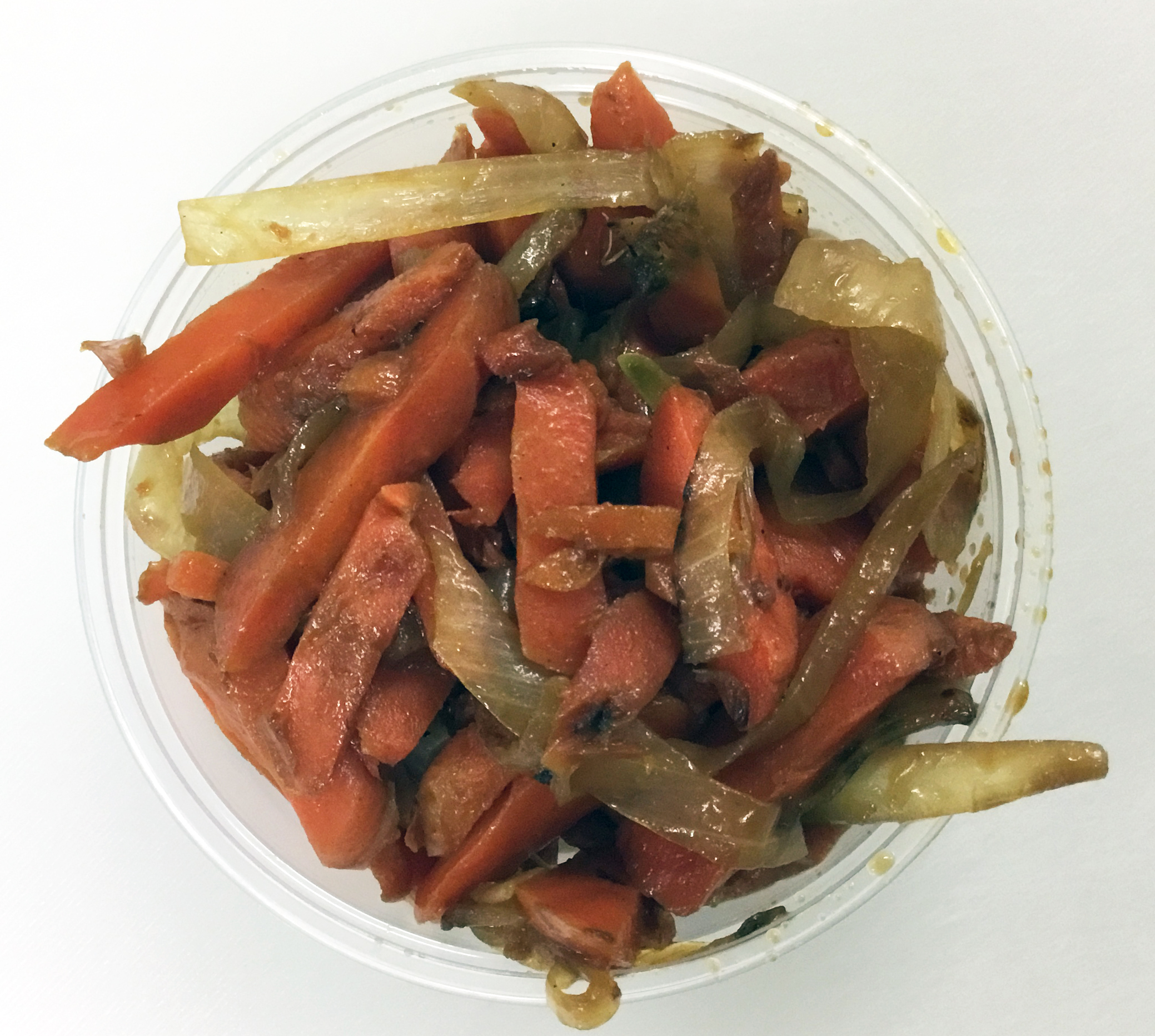 Carrot and yellow onion kinpira.
