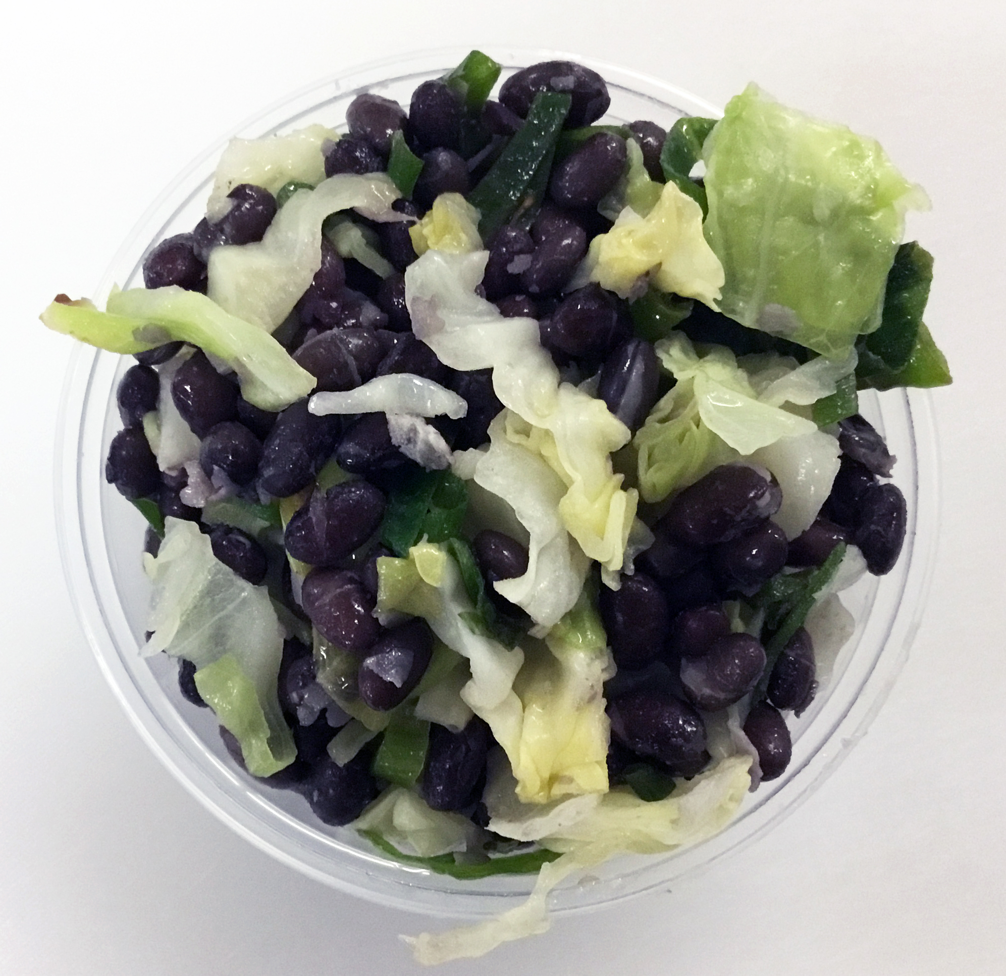 Black beans with green cabbage, scallions and an umeboshi vinegar dressing.