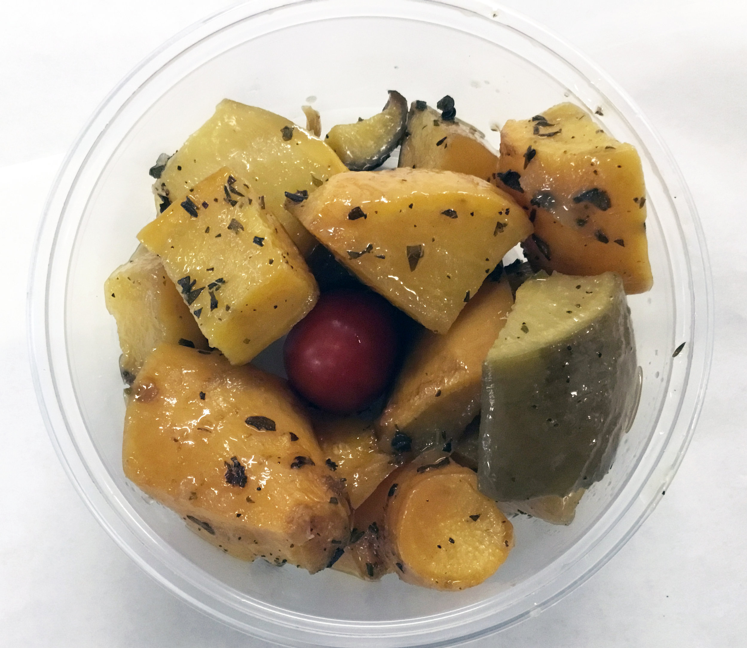 Baked rutabaga, thyme and oregano.
