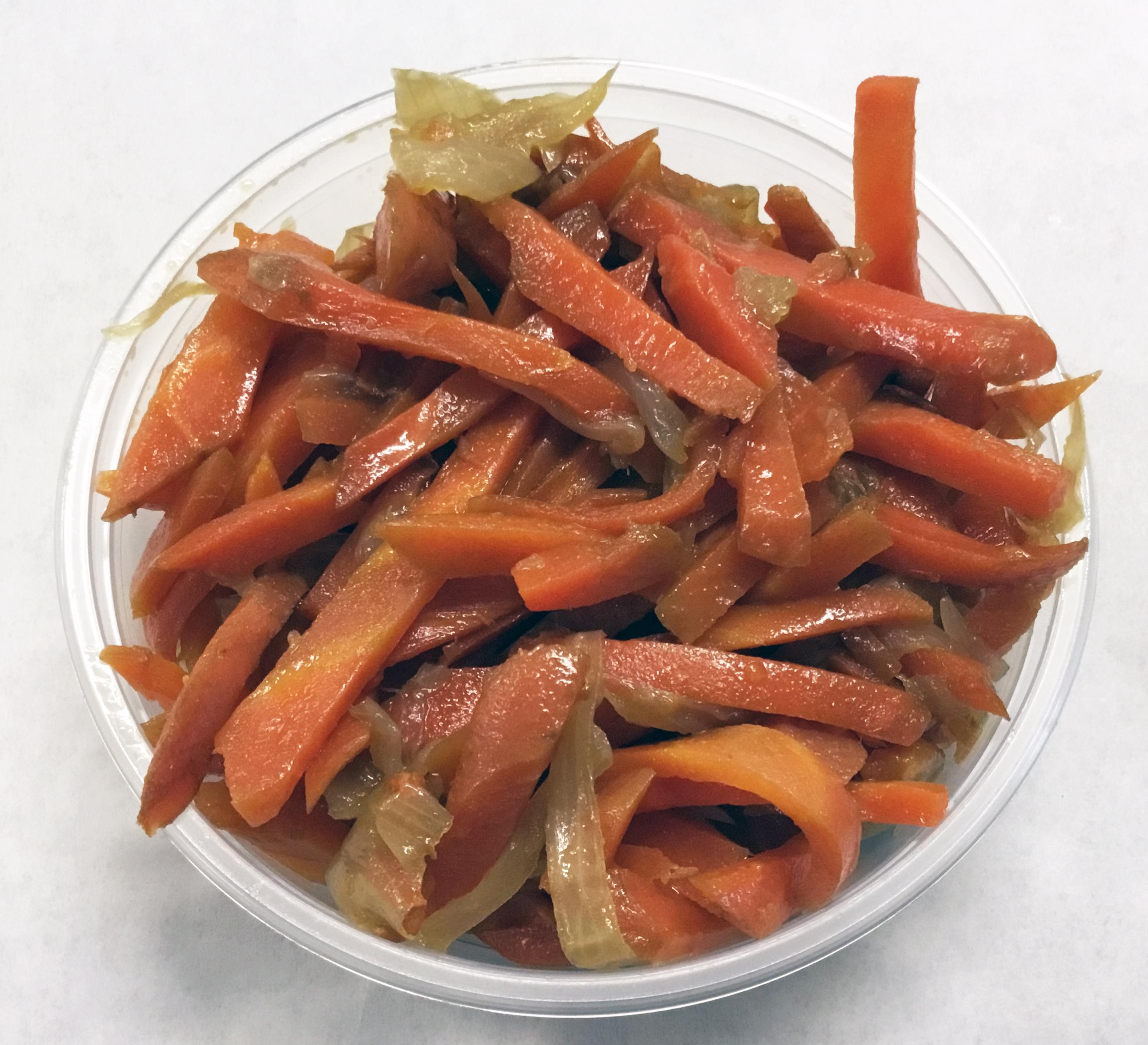 Carrot and onion kinpira.