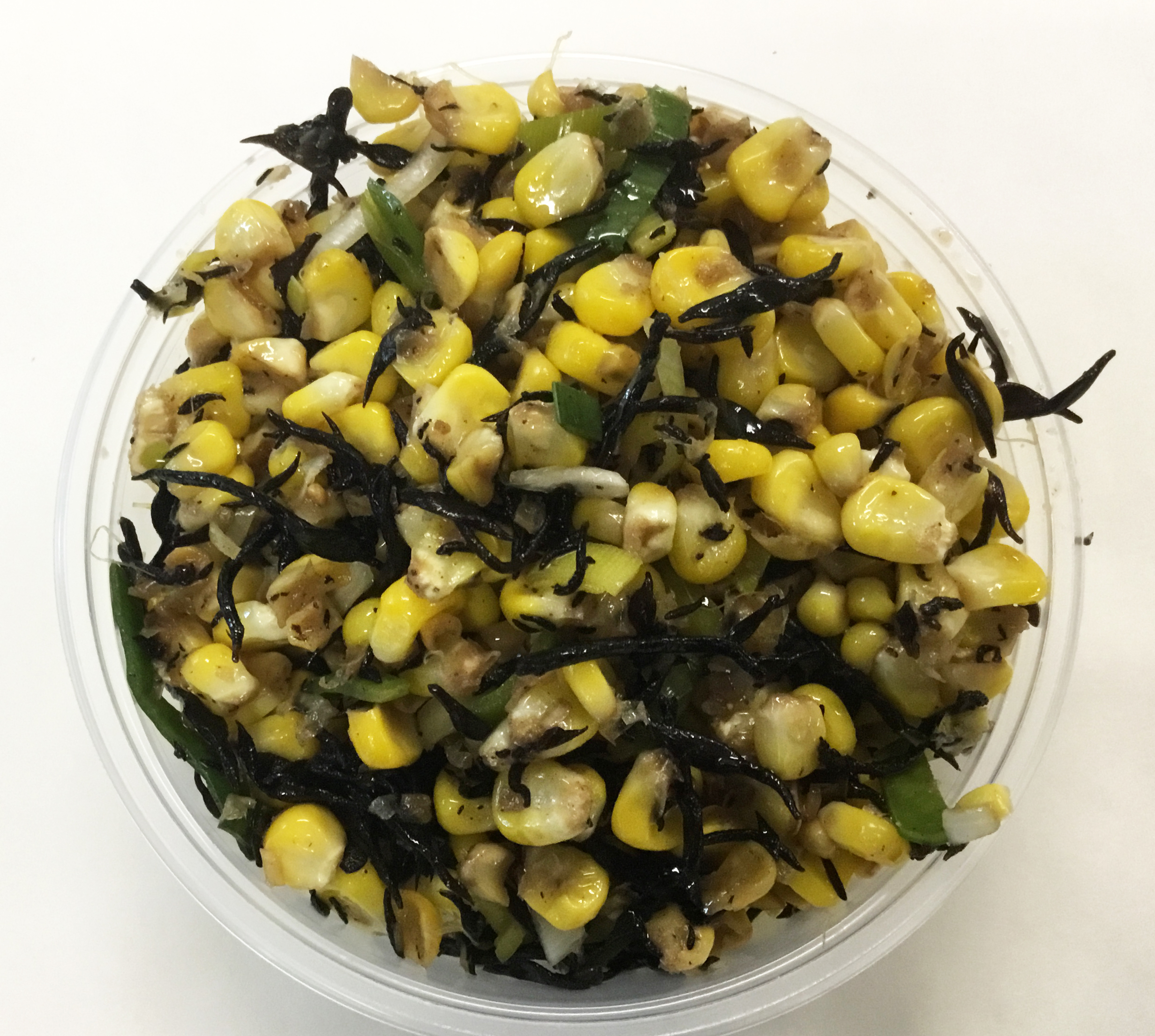 stir fried corn and me-hiziki seaweed