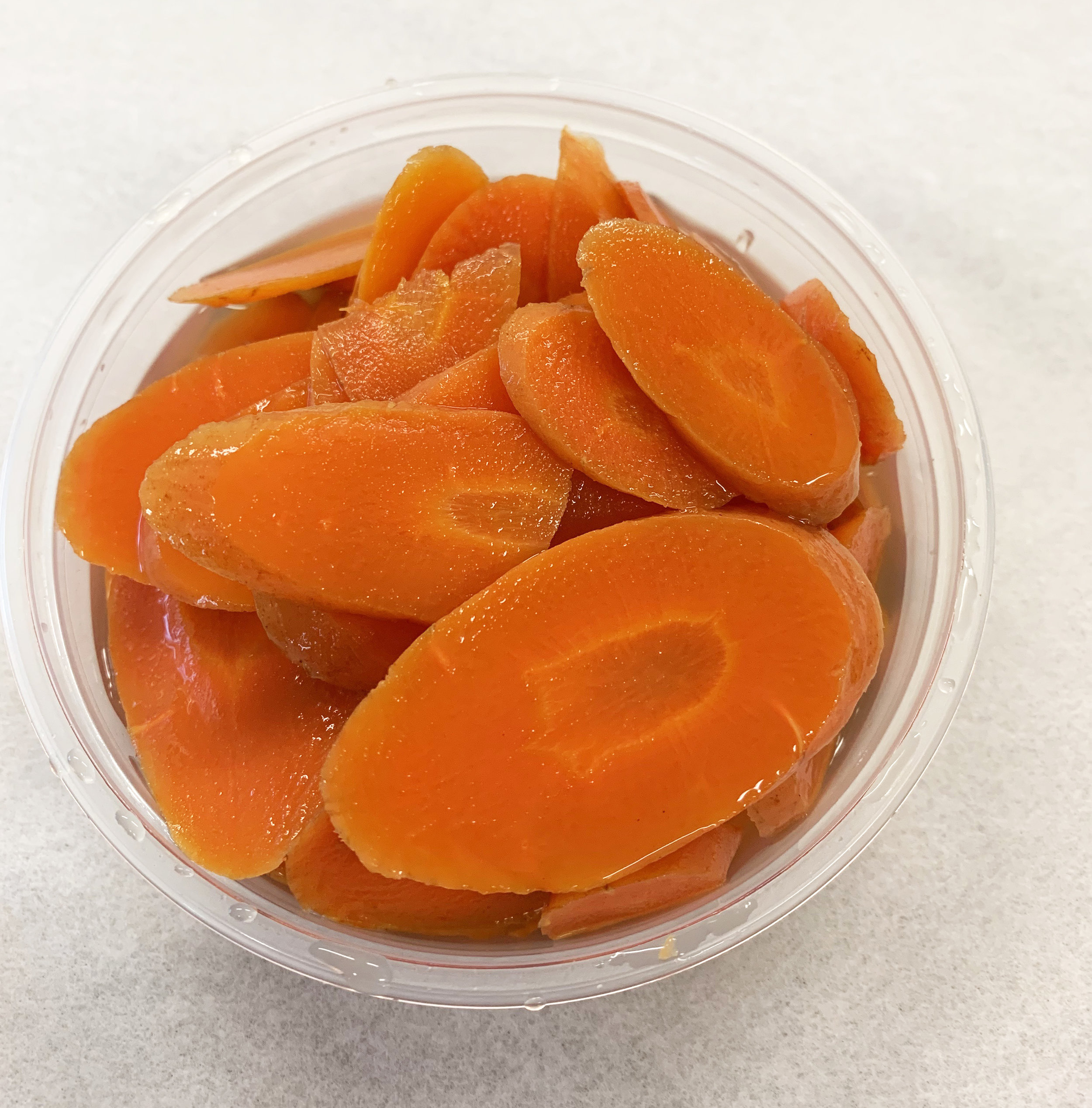 Pickled carrot with ginger.