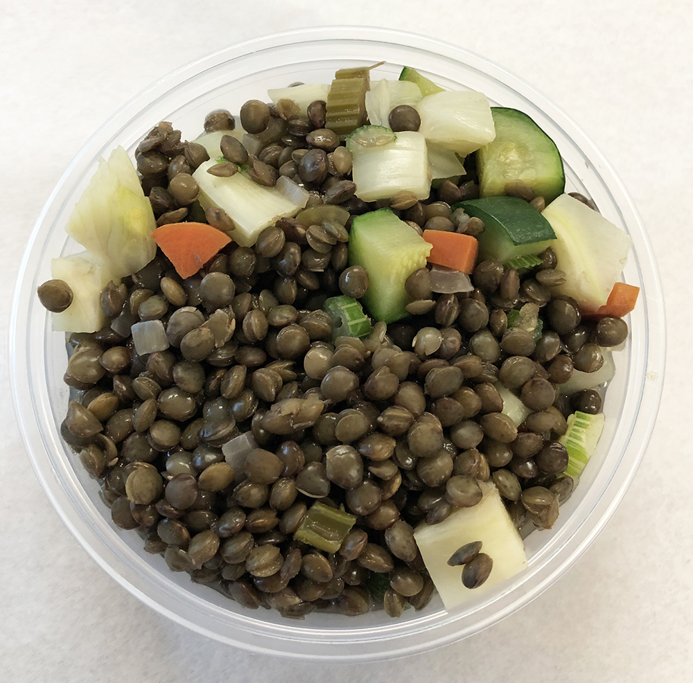 French lentils with fennel and zucchini.