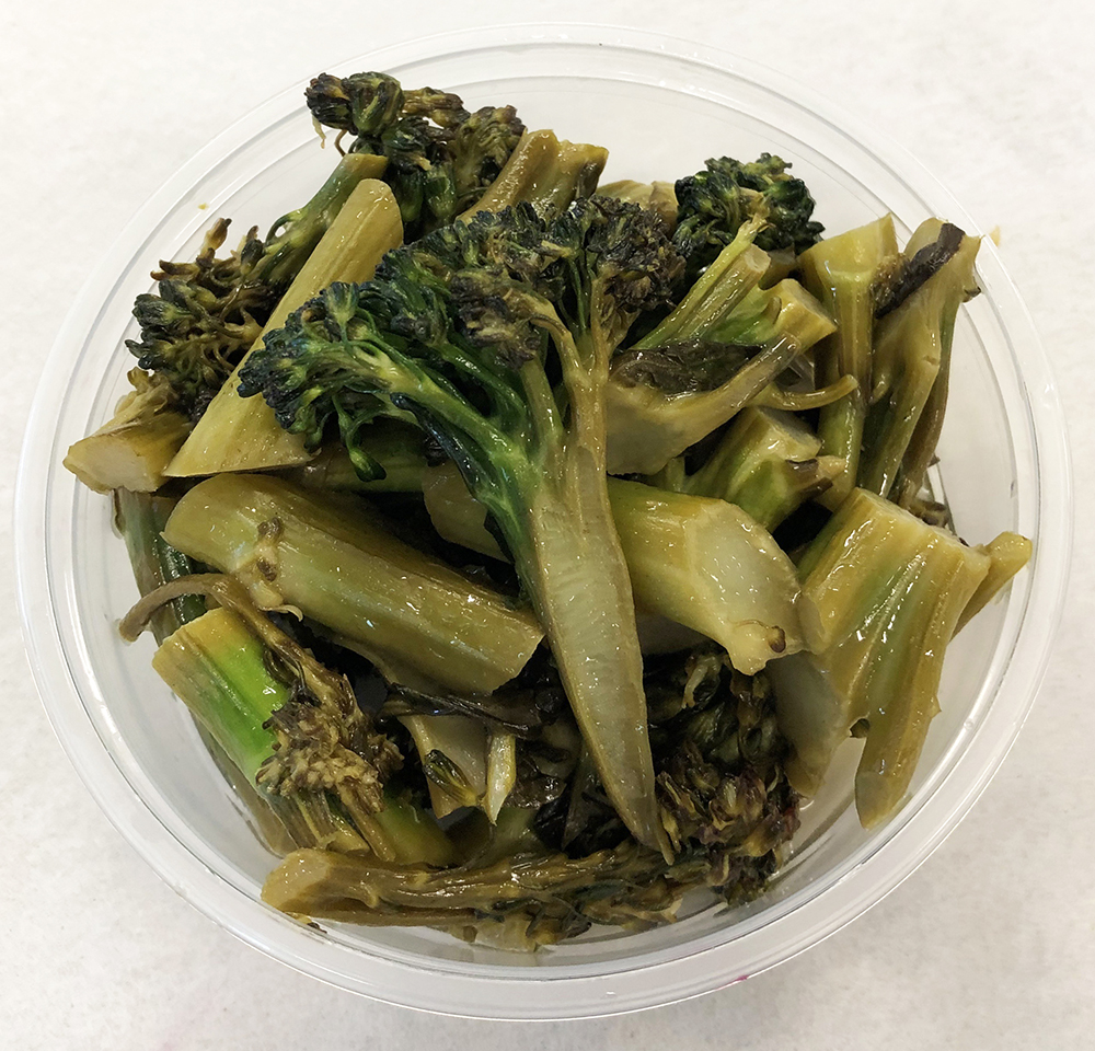 Sautéed broccoli with lemon.