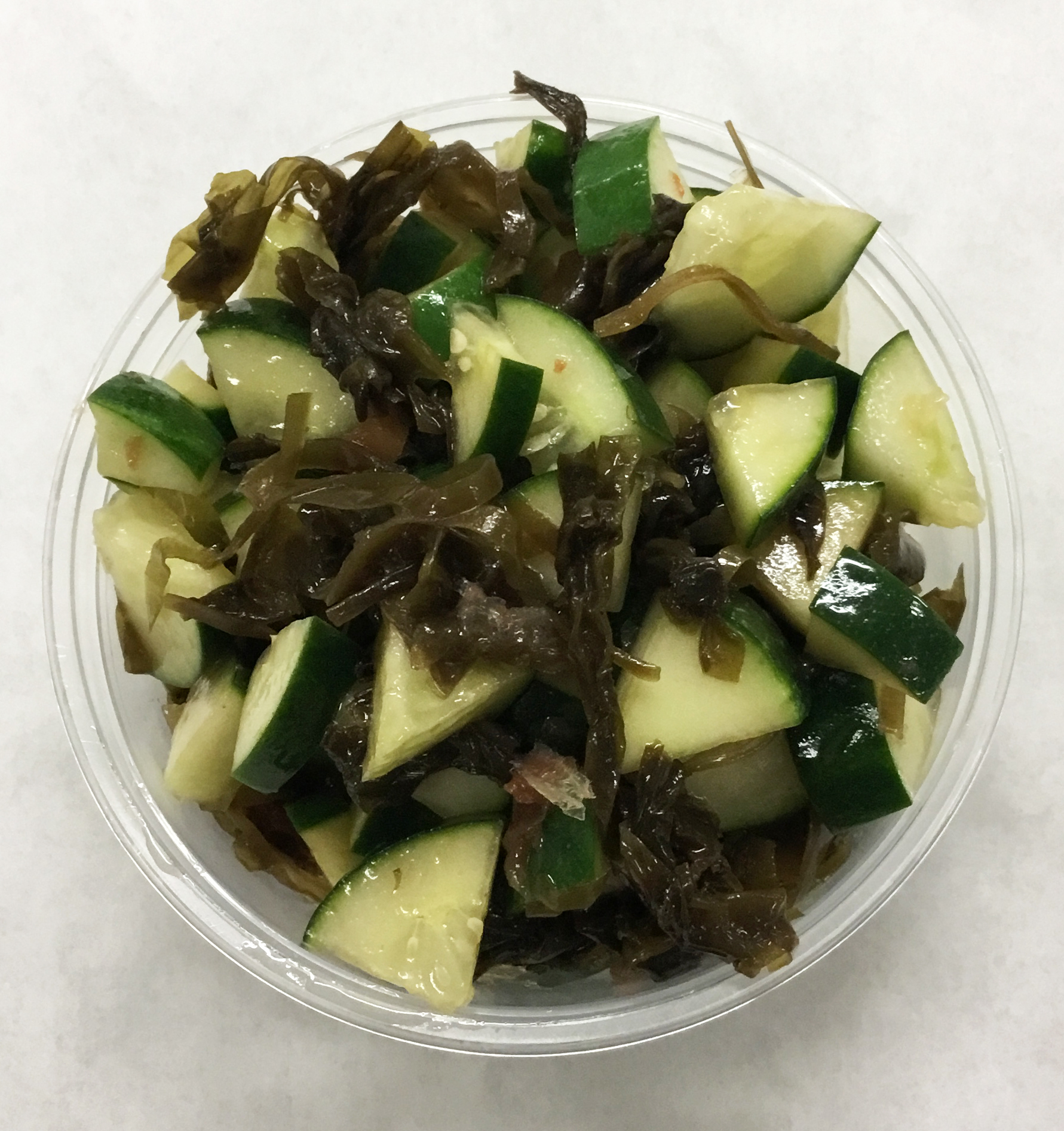 Cucumber and seaweed salad.