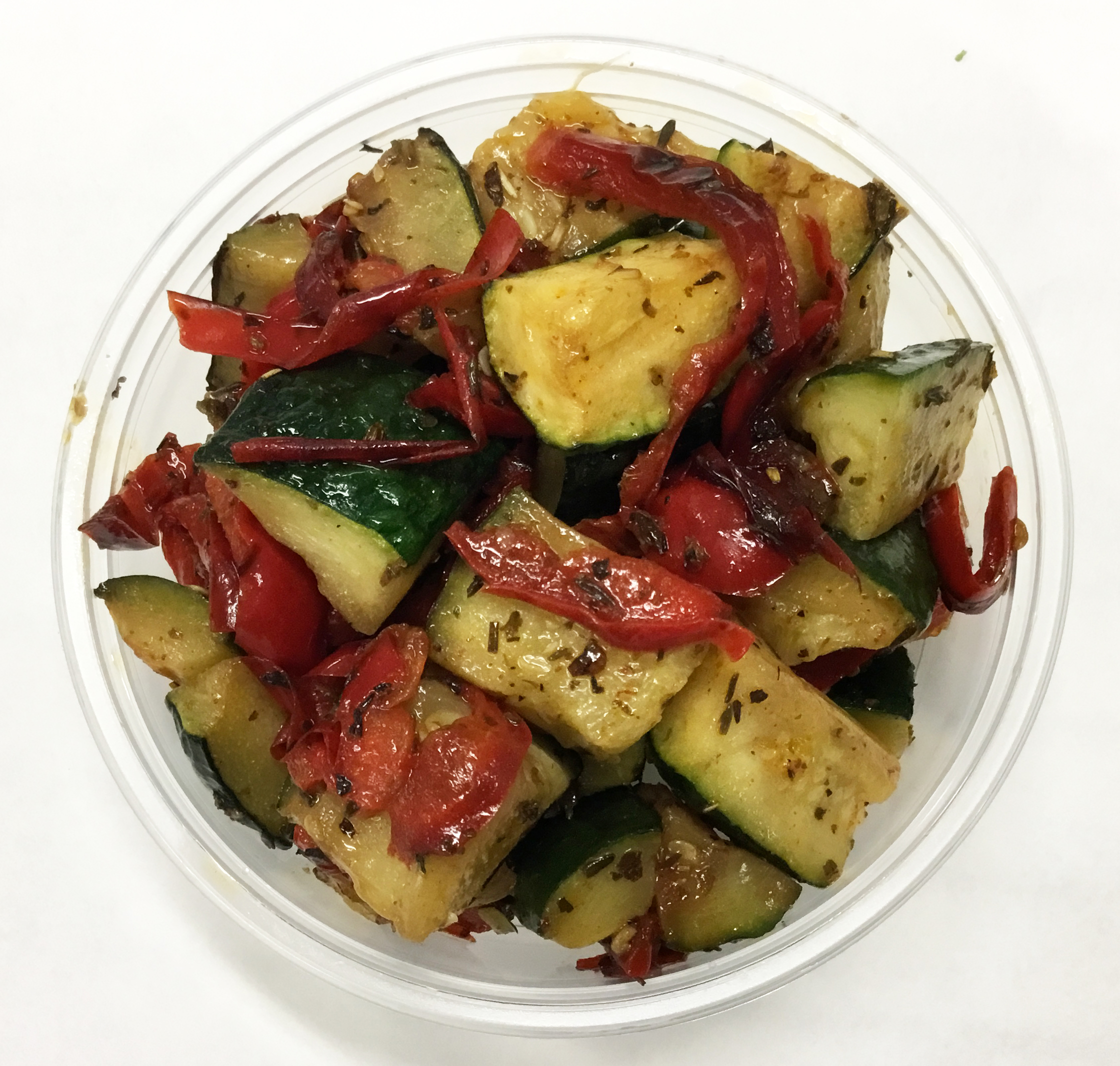 Sauteed zucchini, red bell peppers and herbs de provence.