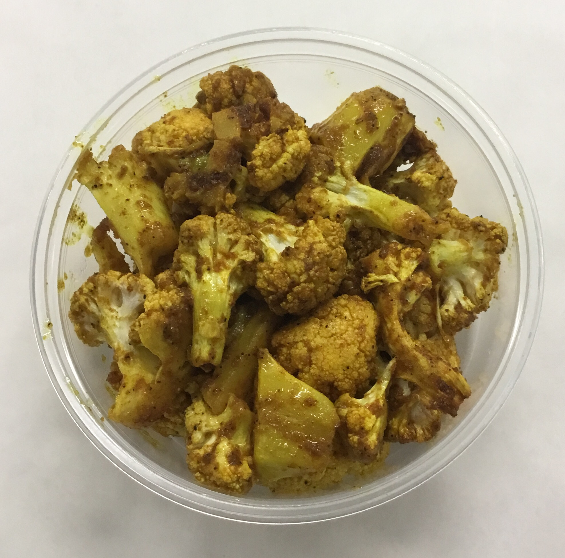 Roasted cauliflower curry.