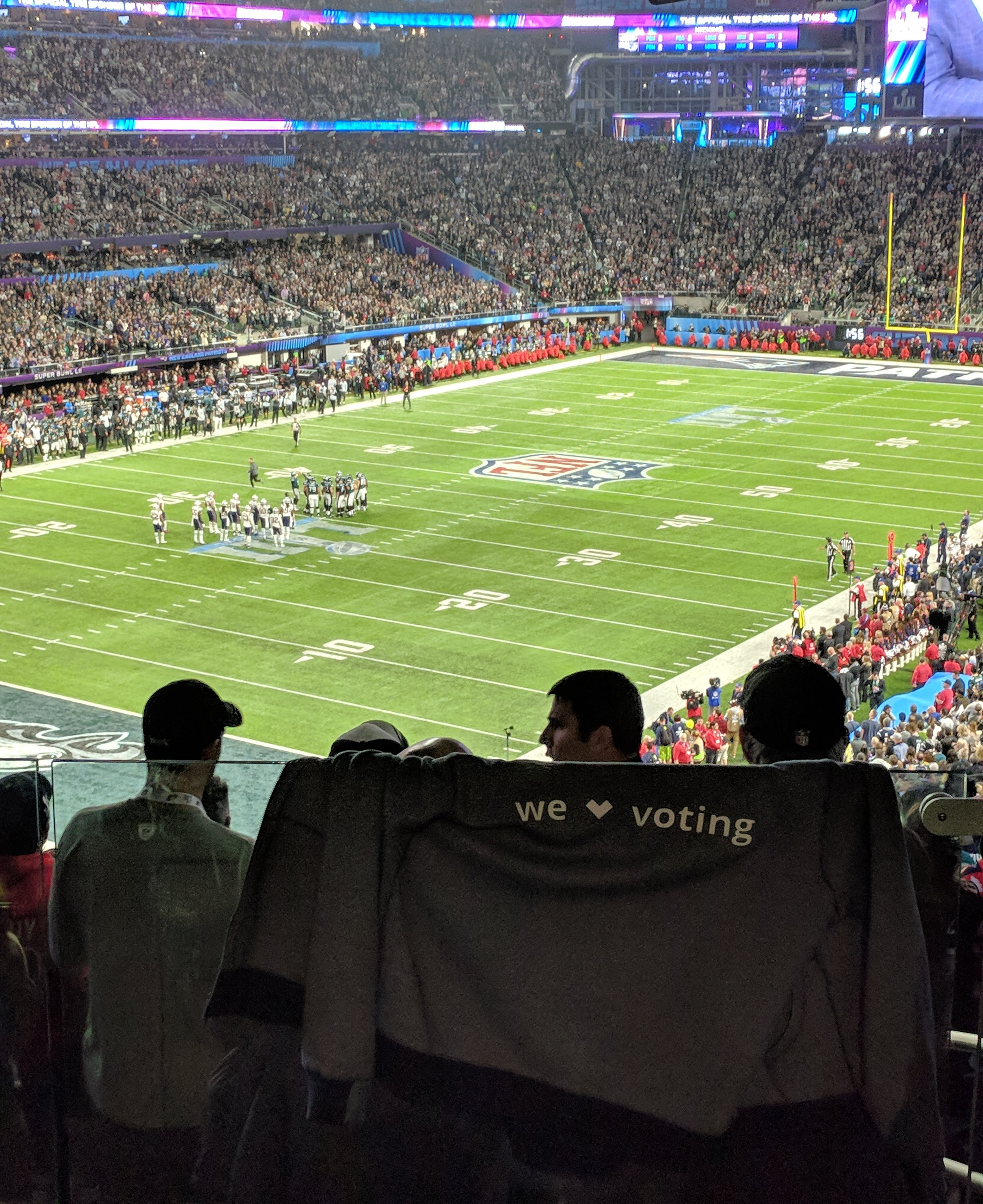 The TurboVote slogan represented well at the Super Bowl. You'd be surprised how inexpensive this advertising was.