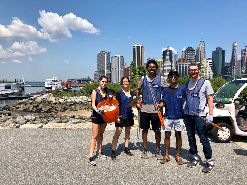 The 2019 Summer Associates (pictured above) took part in an optional Brooklyn Bridge Park conservancy coastal cleanup. They picked up 396 pieces of trash in just 1 hour!