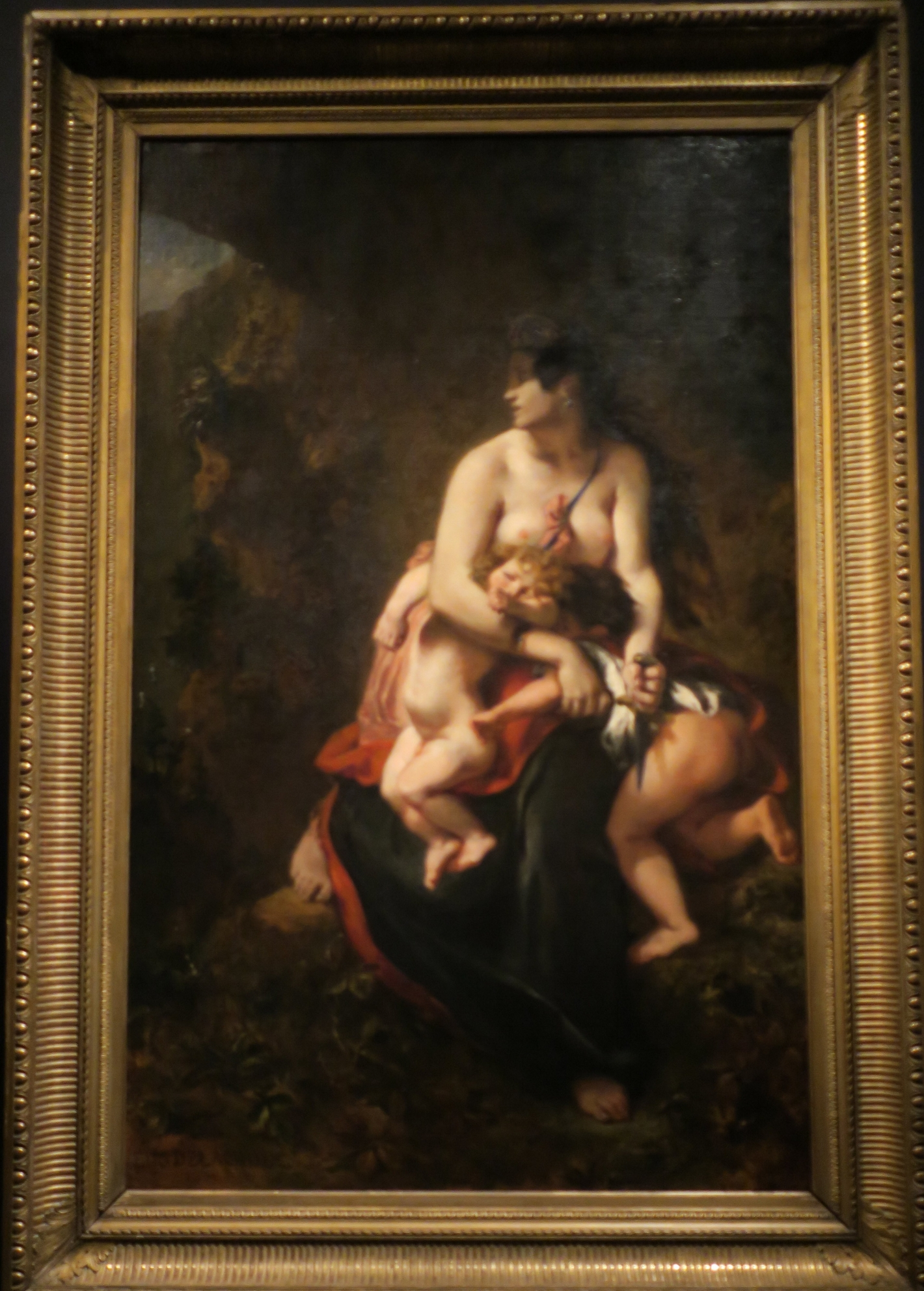 Eugène Delacroix, Medea and her children, 1834