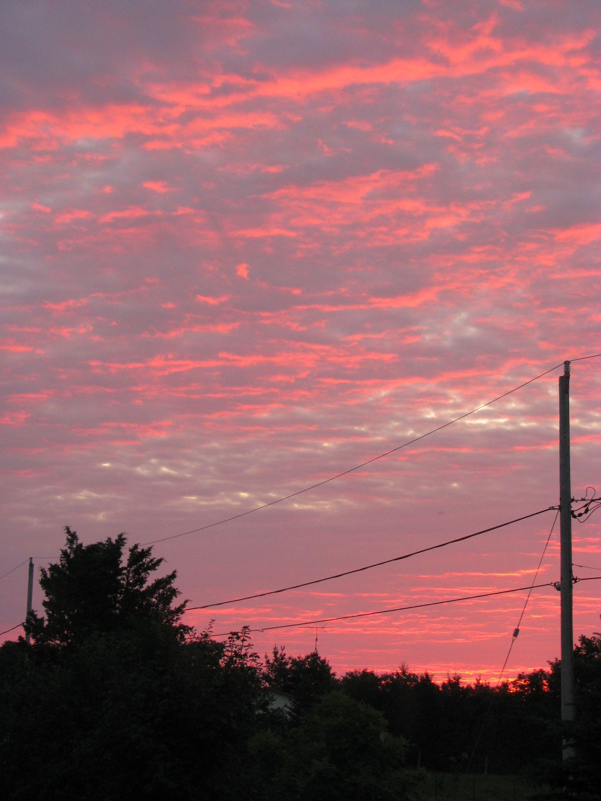 colourful pre-sunrise sky