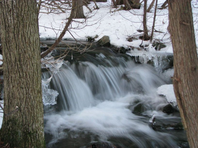 winter waterfalls