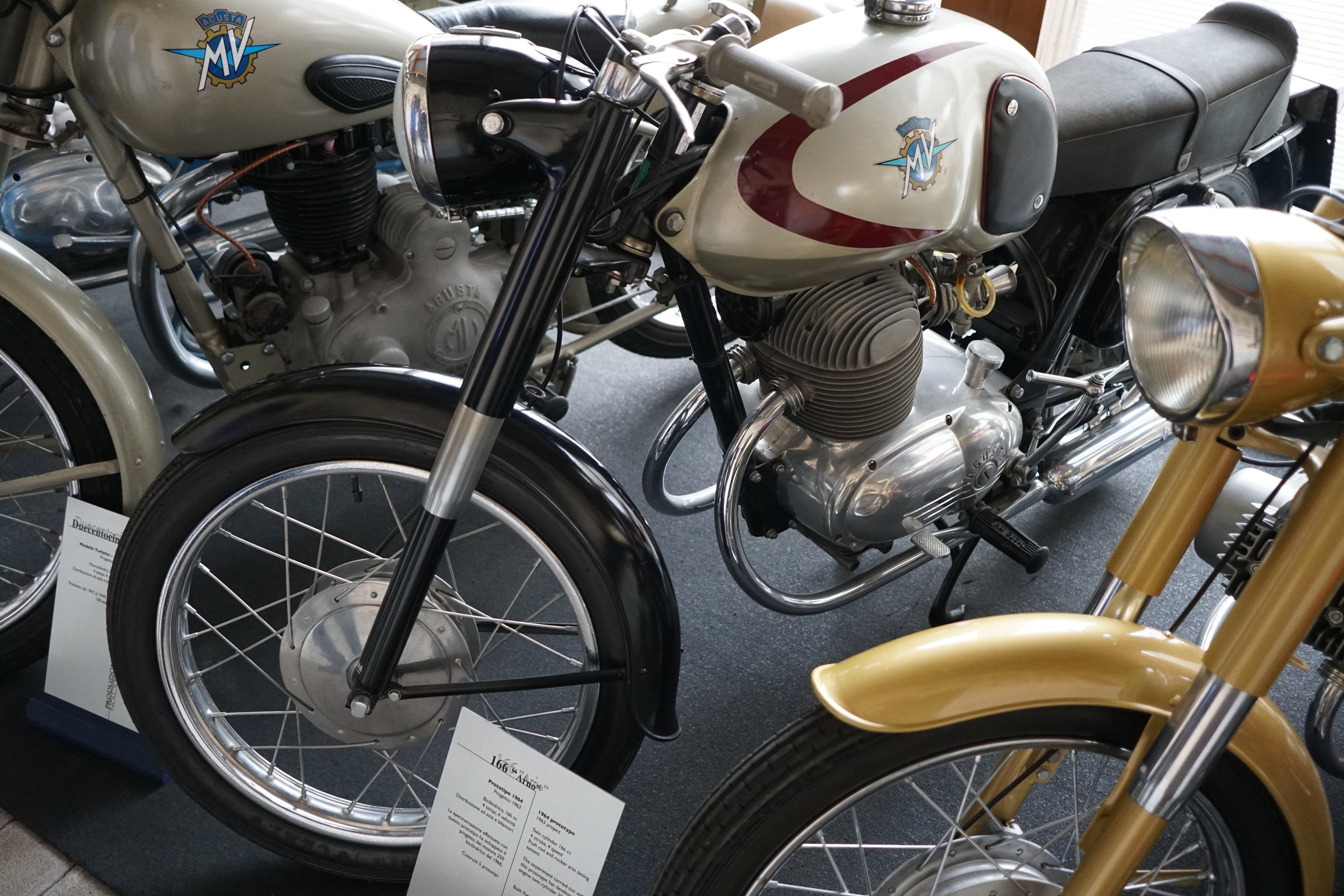 1964 'Arno' prototype. 166cc pushrod twin. Five of these prototypes were made, leading to a 250cc production model in 1966.
