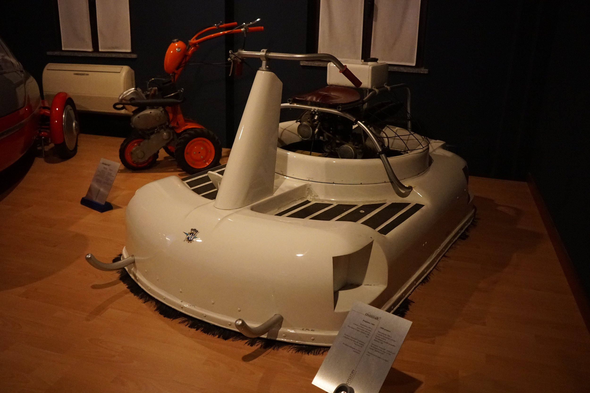 '69 Prototype Hovercraft – This 1969 full working prototype was powered by a 300cc two-stroke boxer motor.