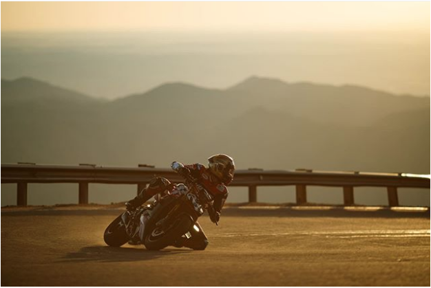 Carlin Dunne was the best rider at Pikes Peak of the 'paved' era, and the fastest qualifier this year. He died within sight of the finish line at the summit on June 30, 2019. Photo from Instagram (Larry Chen?)