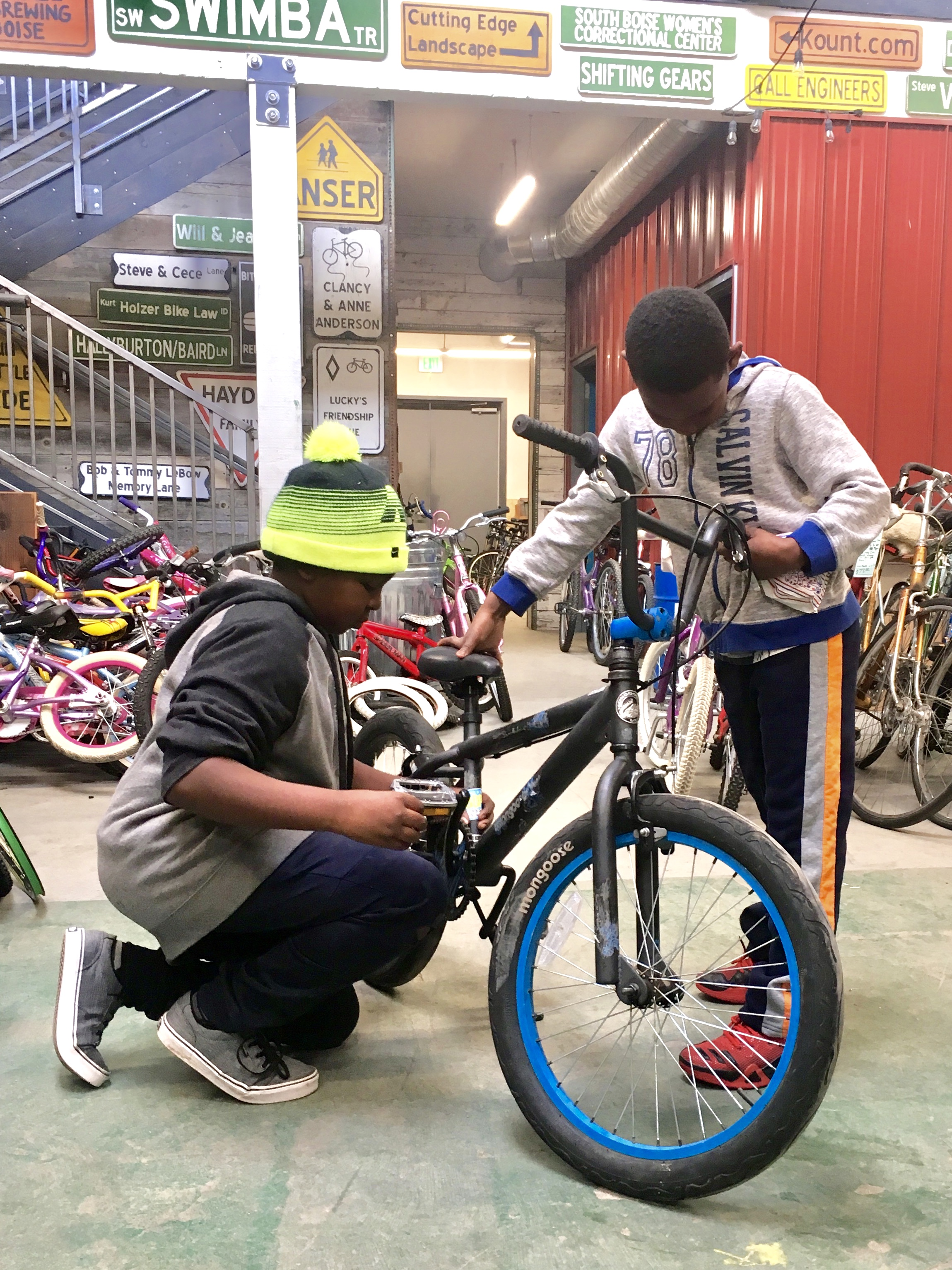 When you enter our doors, you have entered a place of community. Everyone is welcome to get their hands dirty, and all bikes belong.
