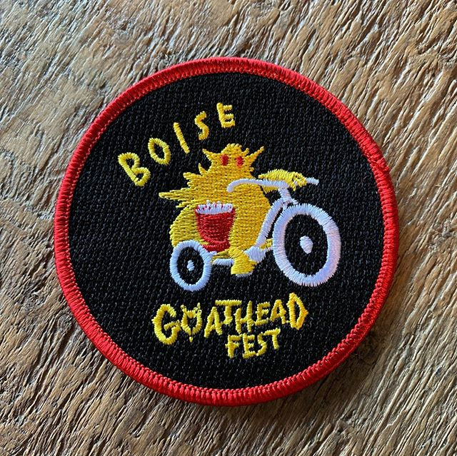 PATCHES ARE IN! A big thanks to all of our wonderfully weird parade attendees who have been anxiously awaiting the arrival of this years patch! To pick up your festival patch stop by @boisebicycleproject  during shop hours. (11-6 Wednesday through Saturday and 11-5 on Sunday.)
