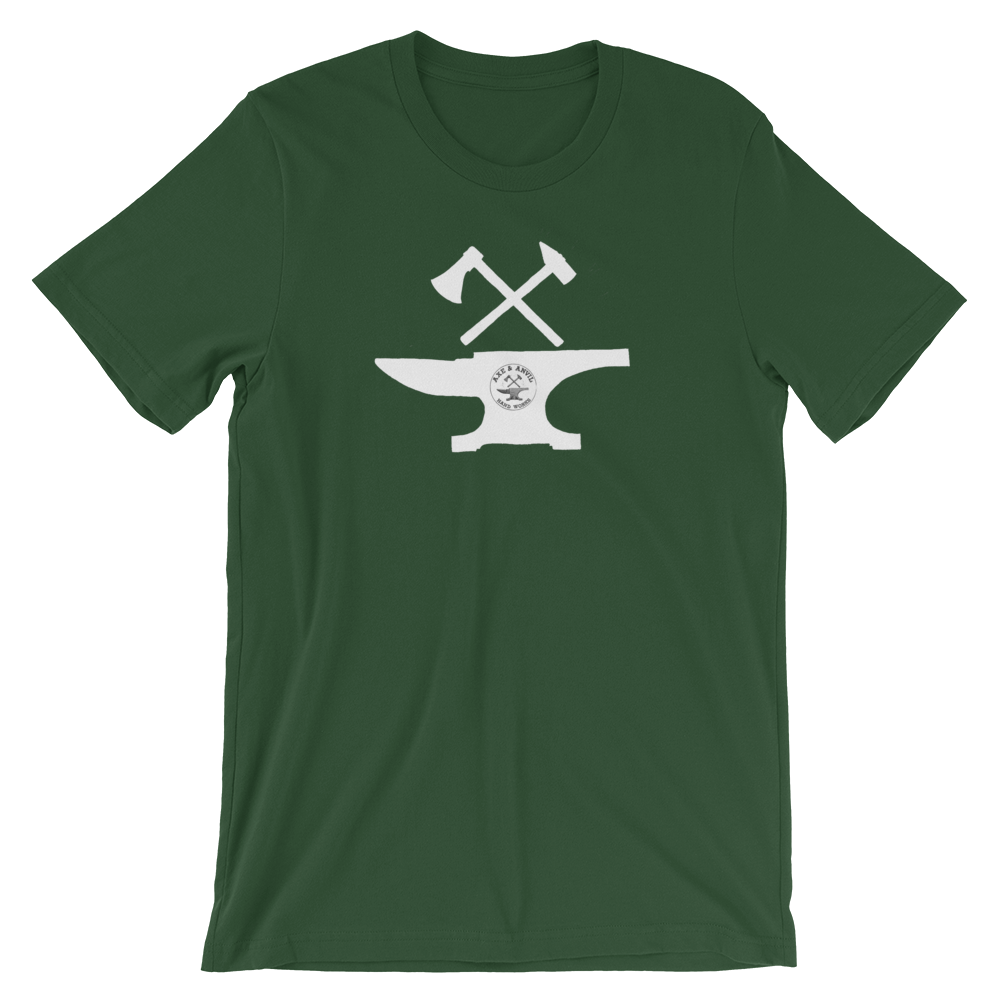 axe-and-anvil-logo-pic-large-no-background-solid-white-with-teeny-logo_mockup_Front_Wrinkled_Forest.png