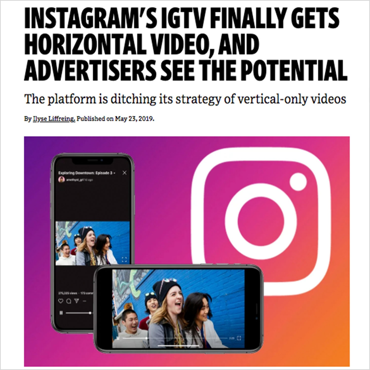 Advertisers See The Potential of IGTV Horizontal Video