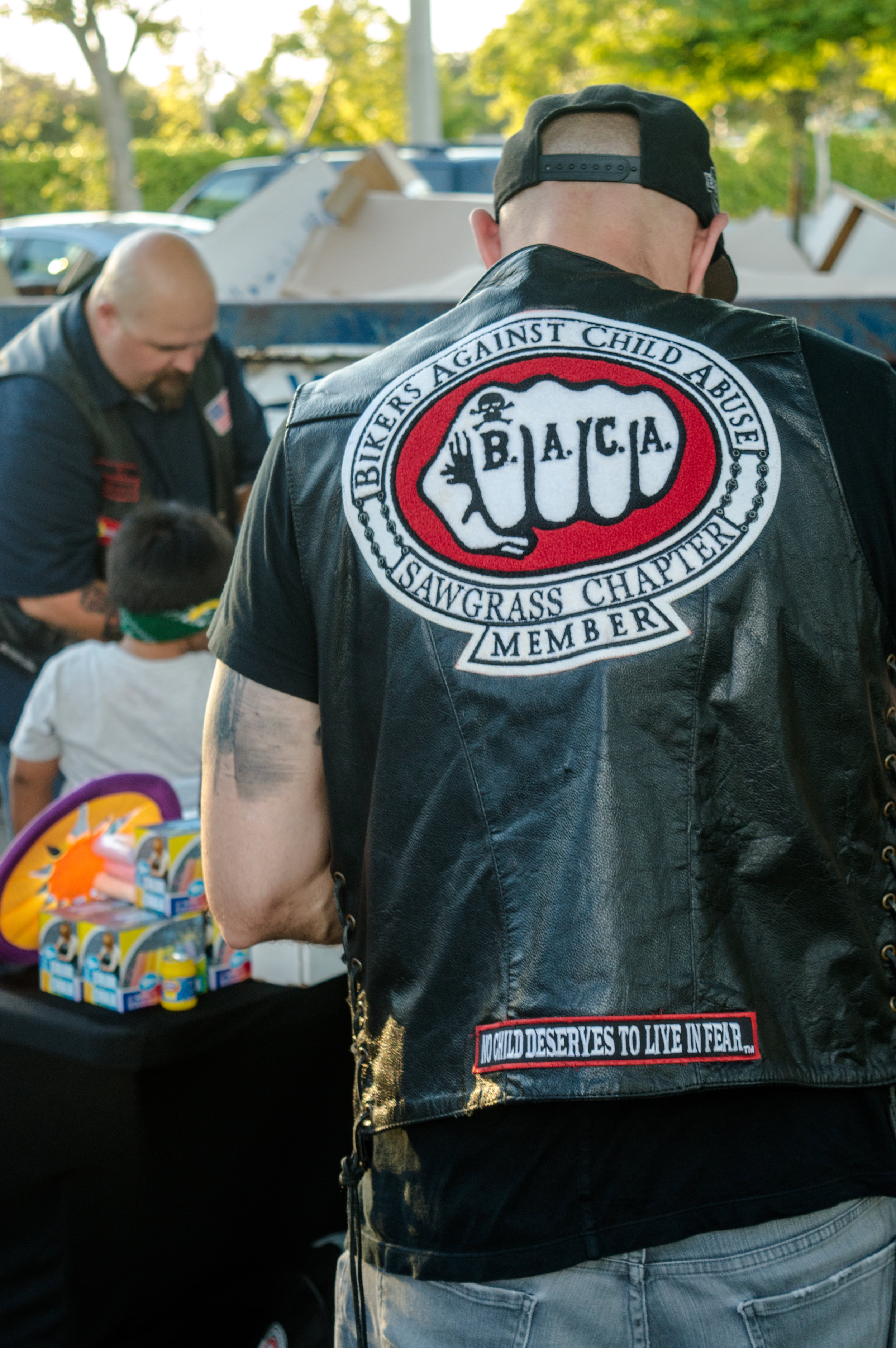 Bikers Against Child Abuse come to visit the kids at The Lodge!