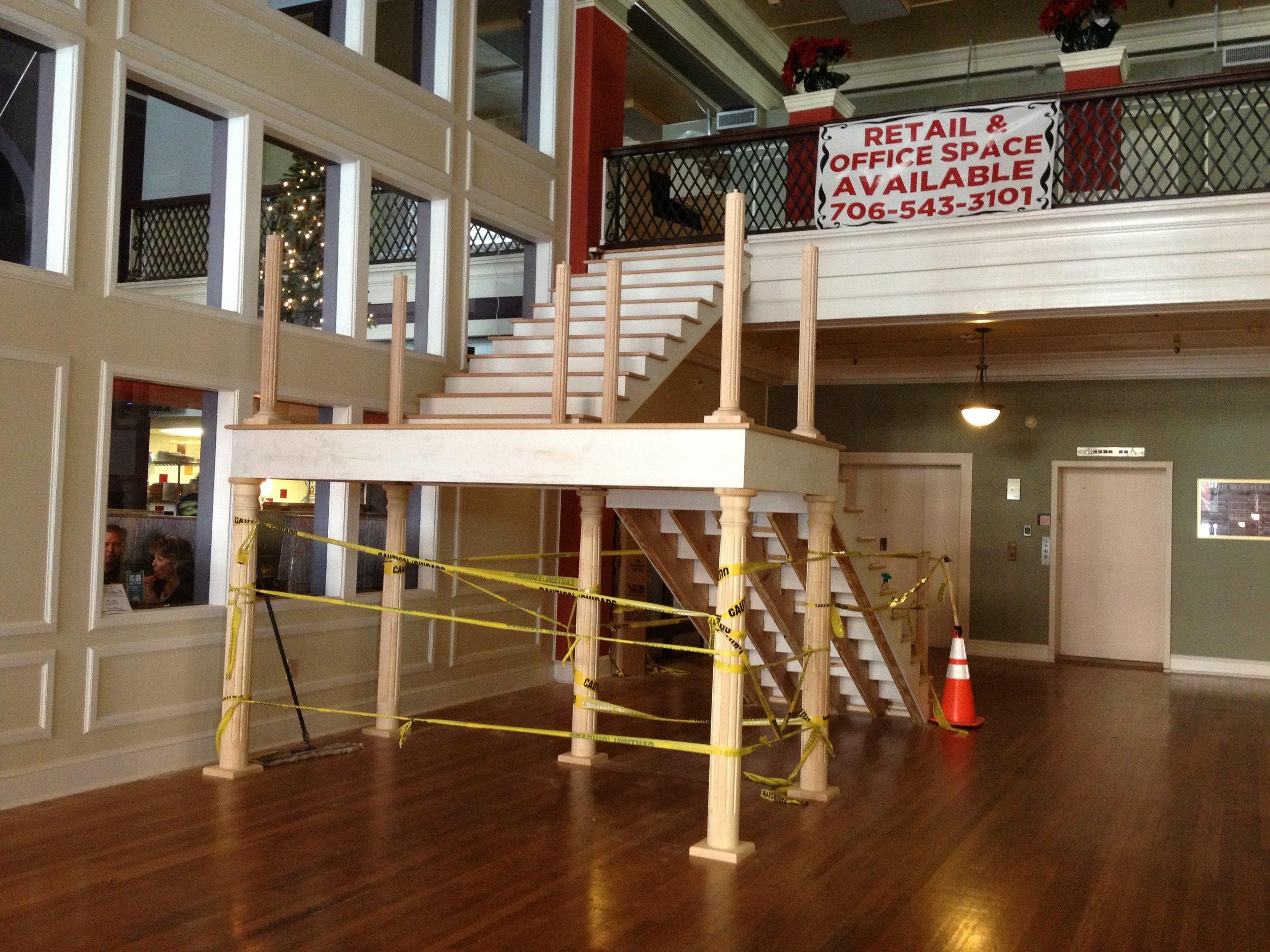 The Mezzanine Grand Lobby Staircase construction