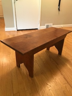Cherry wood country bench - Cherry wood with cherry stain.